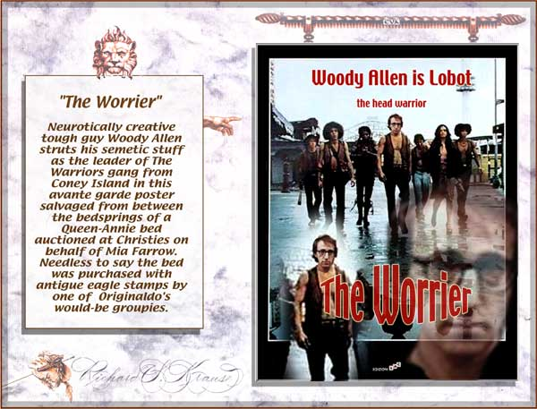 """The Warriors.""  Creative tough guy Woody Allen struts his semetic stuff."